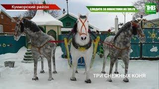 Необычных коней изо льда создал житель Кукморского района | ТНВ