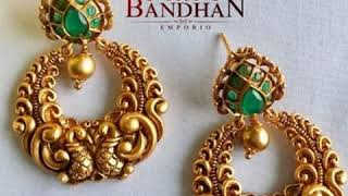 Chandbali Earrings Latest Model/know Chandbali Gold Earrings.