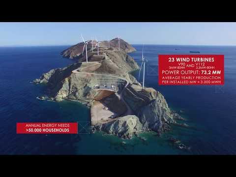 Wind Farm on Aghios Georgios Island