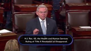 Menendez Speaks Out Against Republican Efforts to Defund Title X Health Centers