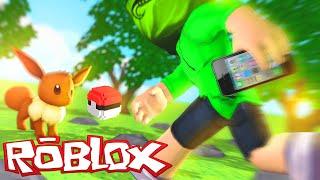 Roblox : JOGANDO POKEMON GO NO ROBLOX ( Pokemon GO! )