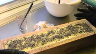 Making & Cutting Purely Natural Lavender Soap