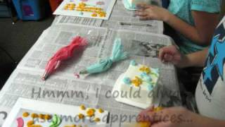 Cake Decorating, teaching my first classes