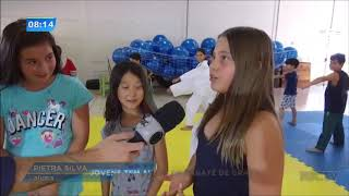 Jovens tem aulas de karatê de graça em Maringá