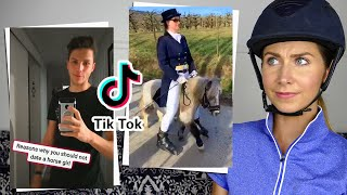 EQUESTRIAN REACTS TO FUNNY HORSE TIKTOKS!