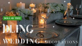 DIY Wedding Decorations | Dollar Tree DIY Bling Centerpieces
