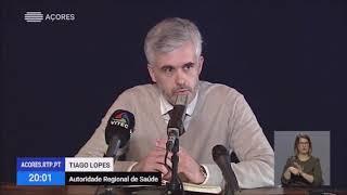 Briefing diário Covid-19, peça do Telejornal da RTP/A, 17 de março