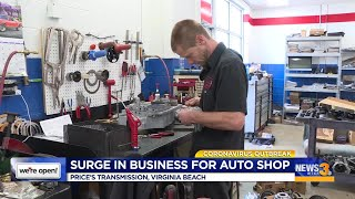 Surge in business for auto shop
