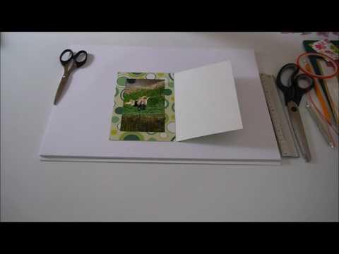 Karten basteln für Fotos und Geldgeschenke