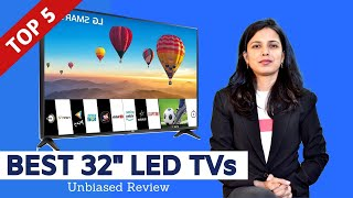 "✅ Top 5: Best LED Smart TVs in India With Price 2020 | 32"" Smart Television Review and Comparison"