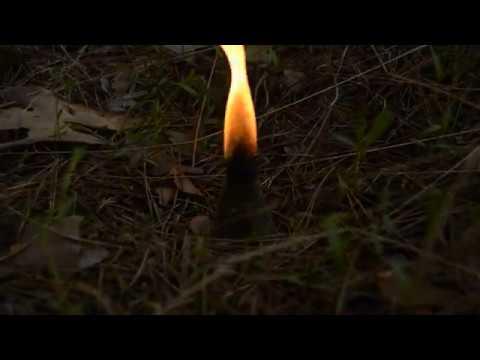Как горят травные бесфитильные свечи (ведьмины свечи)