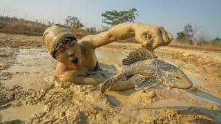 หาปลาซัคเกอร์ เผาดินในน้ำโคลน ที่แห้งแล้งสุดๆ!!
