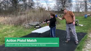 Action Pistol Match at Sandoval Range, Illinois - Shooter 5
