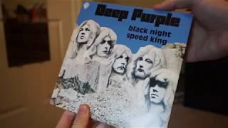 DEEP PURPLE VINYL  BLACK NIGHT 45 Rare Blue Edition