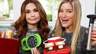 TESTING MORE FUN KITCHEN GADGETS w/ iJustine! Part 2