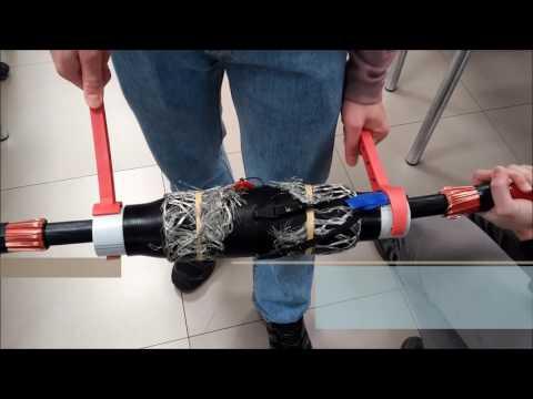 Empalme de dos cables aislados de media tensión de 18/30kV (Grupo A)