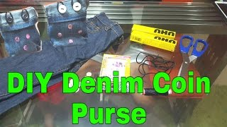 Easy DIY Denim Purse Coin // Used The Unused Item/ Reuse Recycle/16april2016 /thezunafamily Vlogs