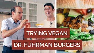 Trying Vegan Chickpea Burgers Ft. Dr. Joel Fuhrman