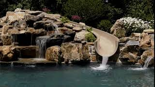 Custom Pools Slides and Waterfalls