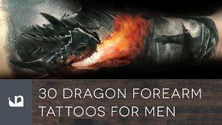 30 Dragon Forearm Tattoos For Men