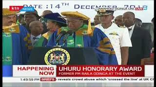 President Uhuru Kenyatta receives Honorary award at 6th Jaramogi University Graduation ceremony