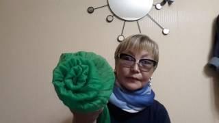 Как сделать розу из шарфика