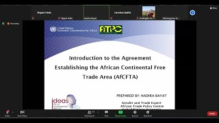 Women and the African Continental Free Trade Area (AfCFTA)