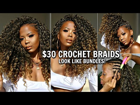$30 CROCHET BRAIDS NO HAIR OUT BEST 4C HAIR PROTECTIVE STYLE GREECE VACATION BACK 2 SCHOOL|TASTEPINK