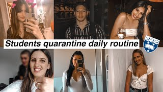 NZ uni students quarantine routines | students of University of Auckland