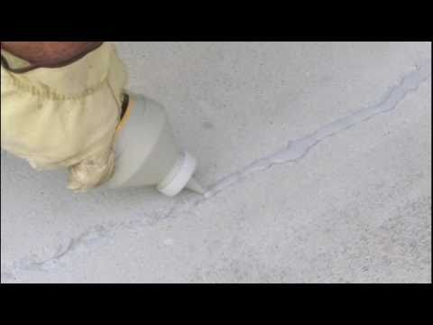 Repair and Sealing Cracks In Concrete