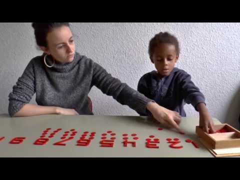 Méthode Montessori : nombres pairs et impairs