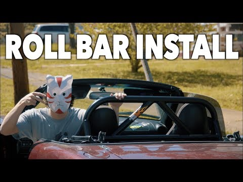 MIATA HARD DOG ACE ROLL BAR INSTALL