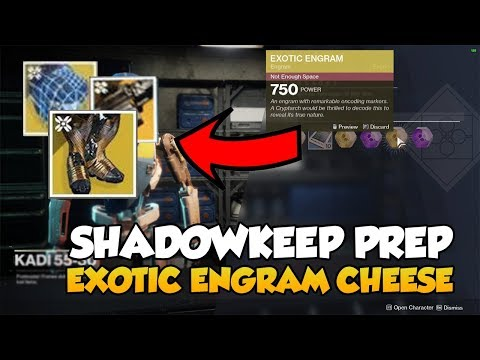 Postmaster Cheese to get New Shadowkeep Exotics on Launch [Destiny 2]