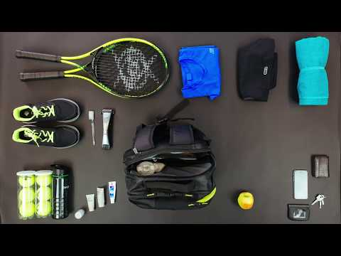 "Targus Work + Play™ Racquets 15.6"" Laptop Backpack - Black/Yellow - video 1"