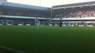 preview picture of video 'Queens Park Rangers (QPR) vs. Chelsea, Loftus Road, Sec. T, Row A, Seat 83, October 23, 2011 4:16PM'