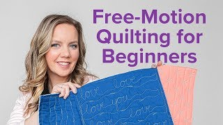 3 Free-Motion Quilting Designs For Beginners | Beginner Quilting Series With Angela Walters