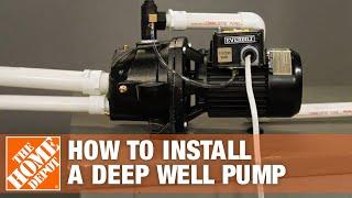 Deep Well Pump   Everbilt Jet Well Pump Installation   The Home Depot