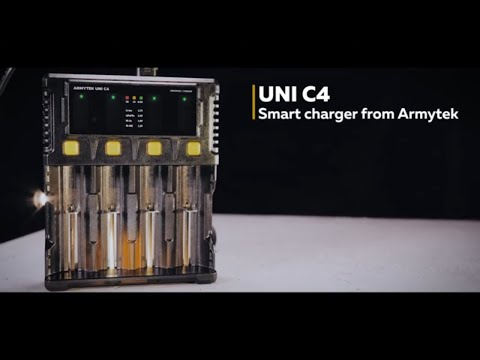 Review of smart Armytek charger with 4 channels