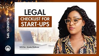 THE LEGAL CHECK LIST FOR START-UPS