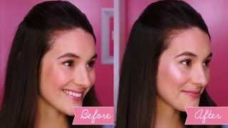 Get glowing with high beam! This soft pink liquid highlighter is perfect for a soft, dewy glow or a gorgeous full strobing look. For a quick & easy strobe, apply stripes of high beam on the high points of your face, then lightly bounce with a sponge to blend into skin for a gorgeous glow!   High Beam: http://bit.ly/highbeamYT  http://www.benefitcosmetics.com  Subscribe for more Tips & Tricks: http://bit.ly/Utd37q
