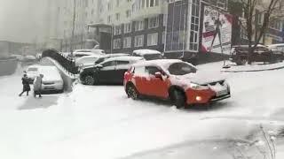 Первый снег или день жестянщика Ноябрь 2017 (ДТП во Владивостоке, подборка)