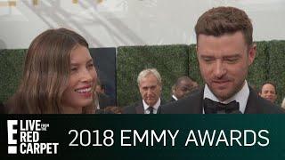 "Justin Timberlake's ""Obnoxious"" Plan for Jessica Biel's Emmy   E! Red Carpet & Award Shows"