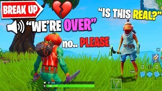 My Girlfriend Pretended to BREAK UP With Me in Fortnite