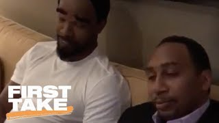 Stephen A. finally meets his match, twin brother Cleveland A. Smith (Jamie Foxx) | First Take | ESPN