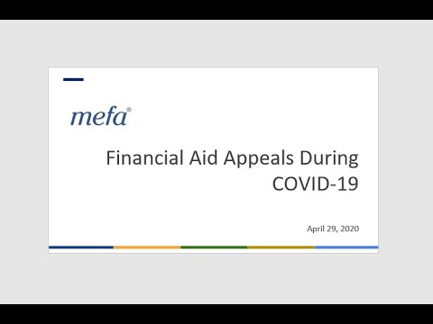 Financial Aid Appeals During COVID-19