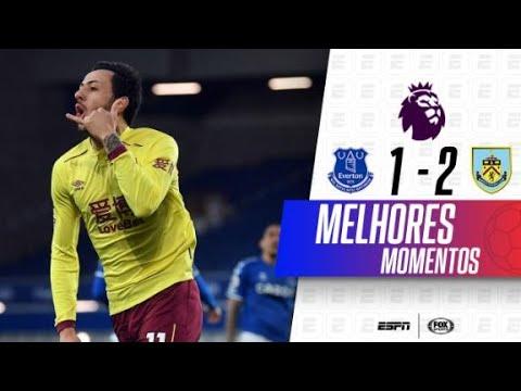 TEVE GOLAÇO ÉPICO! Melhores momentos de Everton 1x2 Burnley na Premier League