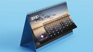 Desk Calendar Design 2020 Tutorial In Adobe Illustrator | টেবিল ক্যালেন্ডার ডিজাইন