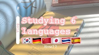 Studying multiple languages at the same time | book recommendation|  study vlog|