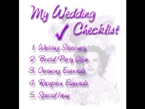 Essential Wedding Checklist / Timeline