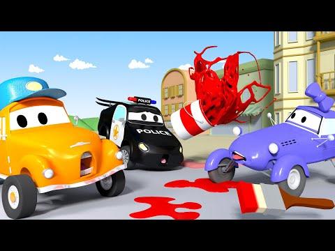 Katy el Auto Kit - El lavado de Autos de Tom La Grúa 🛀 Dibujos animados de carros